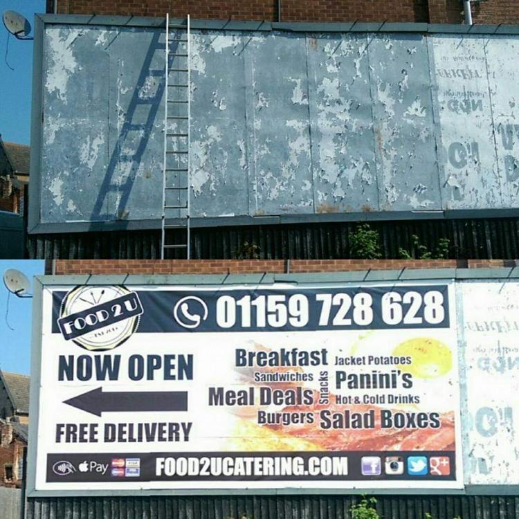 Food 2 U Billboard Banner