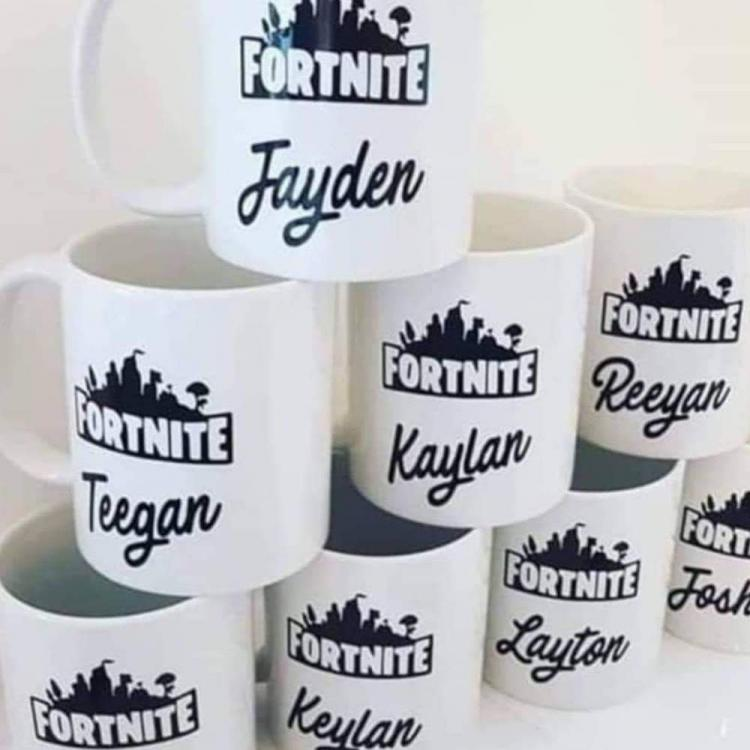 Personalised Fortnite Name Mug