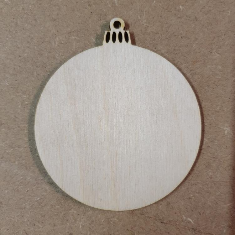 Laser Cut Bauble Blank