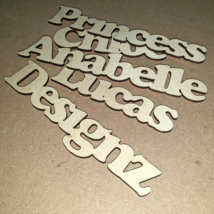 Laser Cut Name Blanks 2