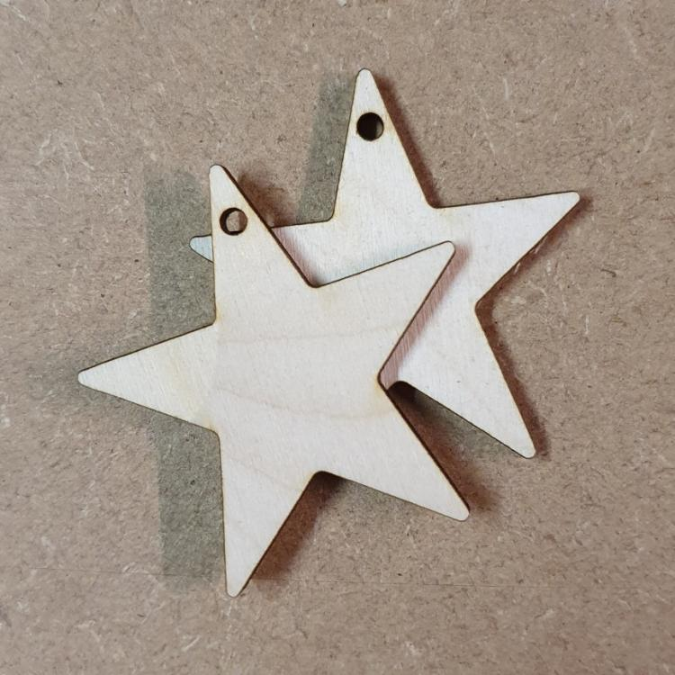 Laser Cut Star Blanks