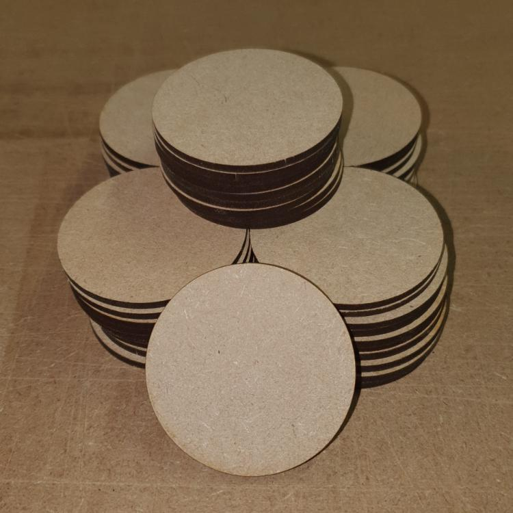 Lasercut MDF Circle Blanks 3