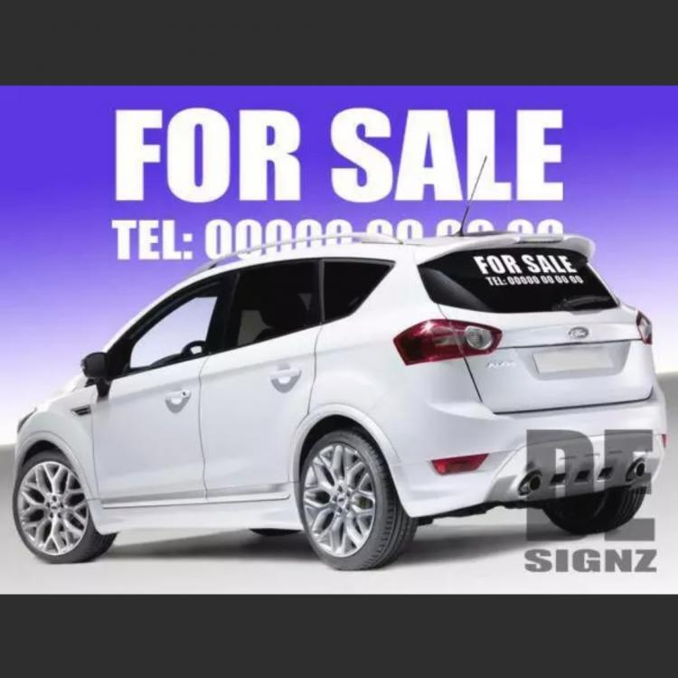 Car For Sale Sticker Large