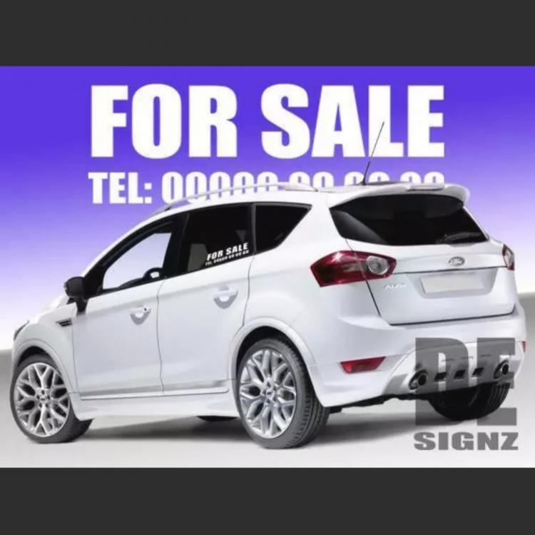 Car For Sale Sticker Small