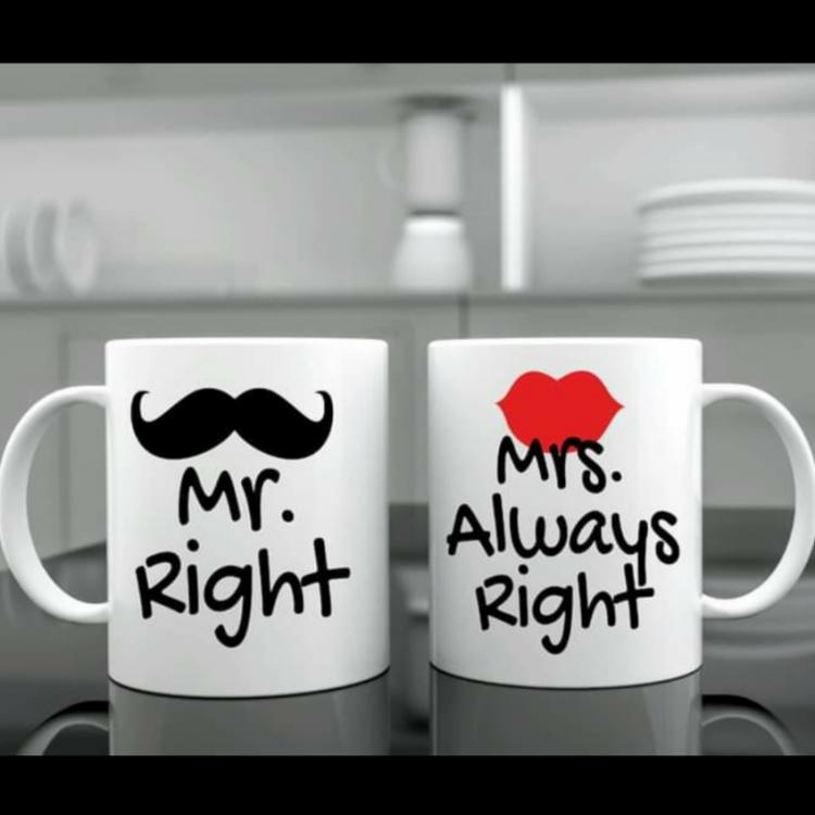 Mr and Mrs always right mug