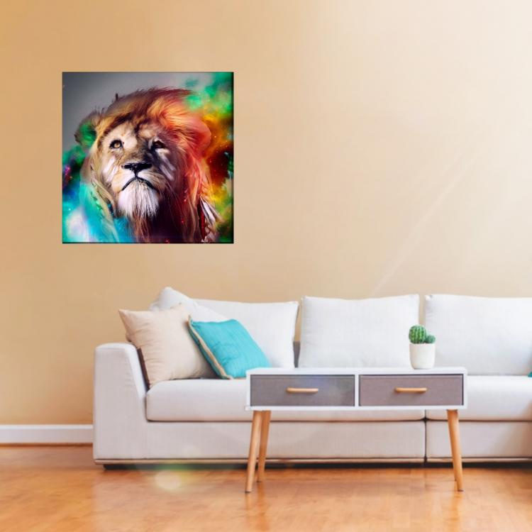 Colorful Lion Canvas 1