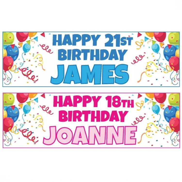 Basic Birthday Banners Signs 1