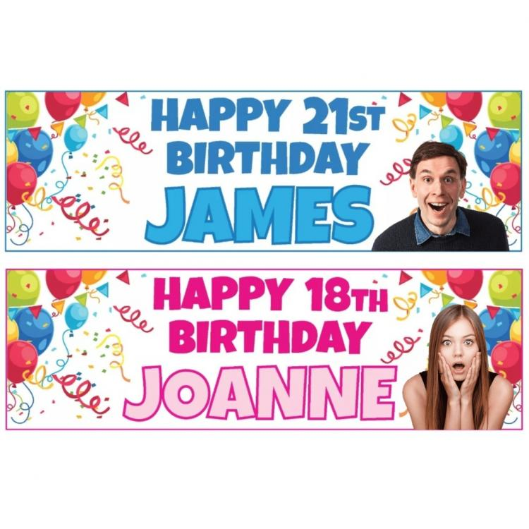 Basic Birthday Banners Signs 2